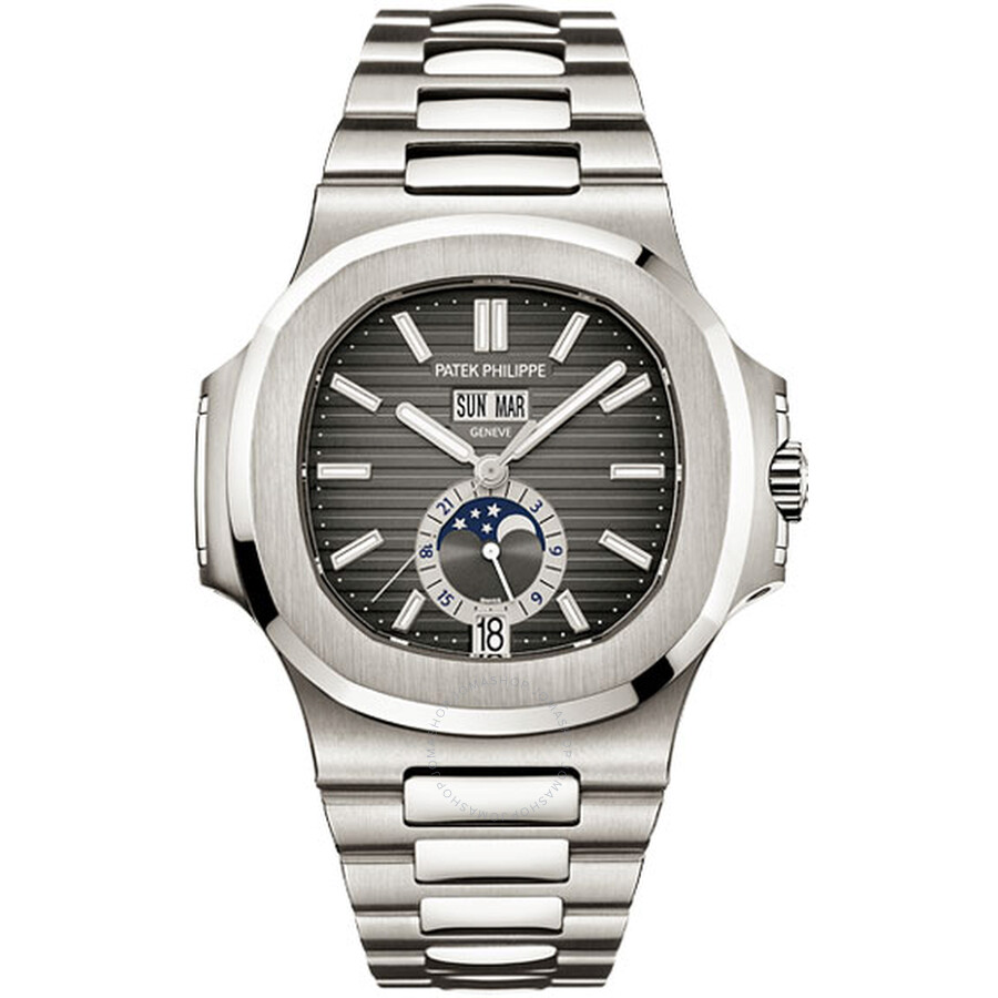 Patek Philippe Nautilus Mechanical Black Dial Steel Men's Watch 5726/1A-001.  Move your mouse over image or click to enlarge