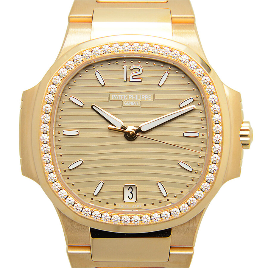 Patek philippe nautilus rose gold ladies watch ladies 7118 1200r 010 nautilus patek philippe for Patek philippe women