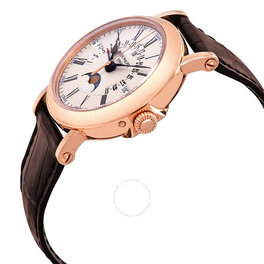 1c6ae4bfcdd ... Patek Philippe Perpetual Calendar 18kt Rose Gold Brown Leather Men s  Watch 5159R-001 ...