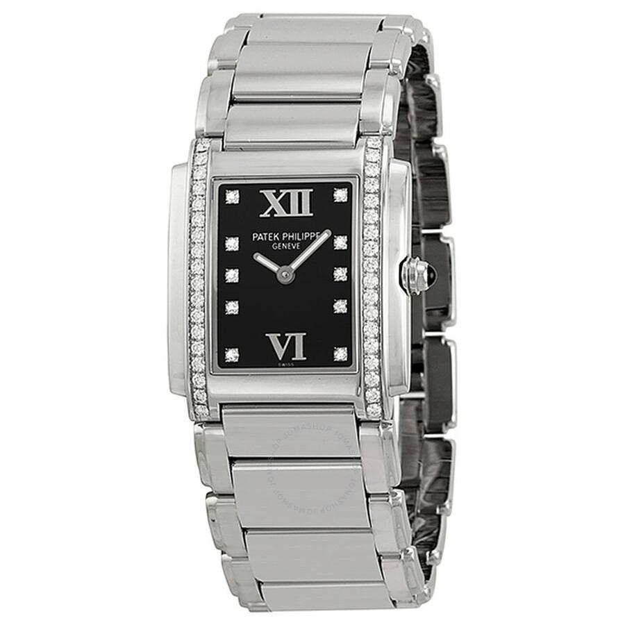4910-10a-001 Black - 4 Twenty Watches Ladies Jomashop Steel Twenty-4 Diamond Dial Patek Philippe Watch