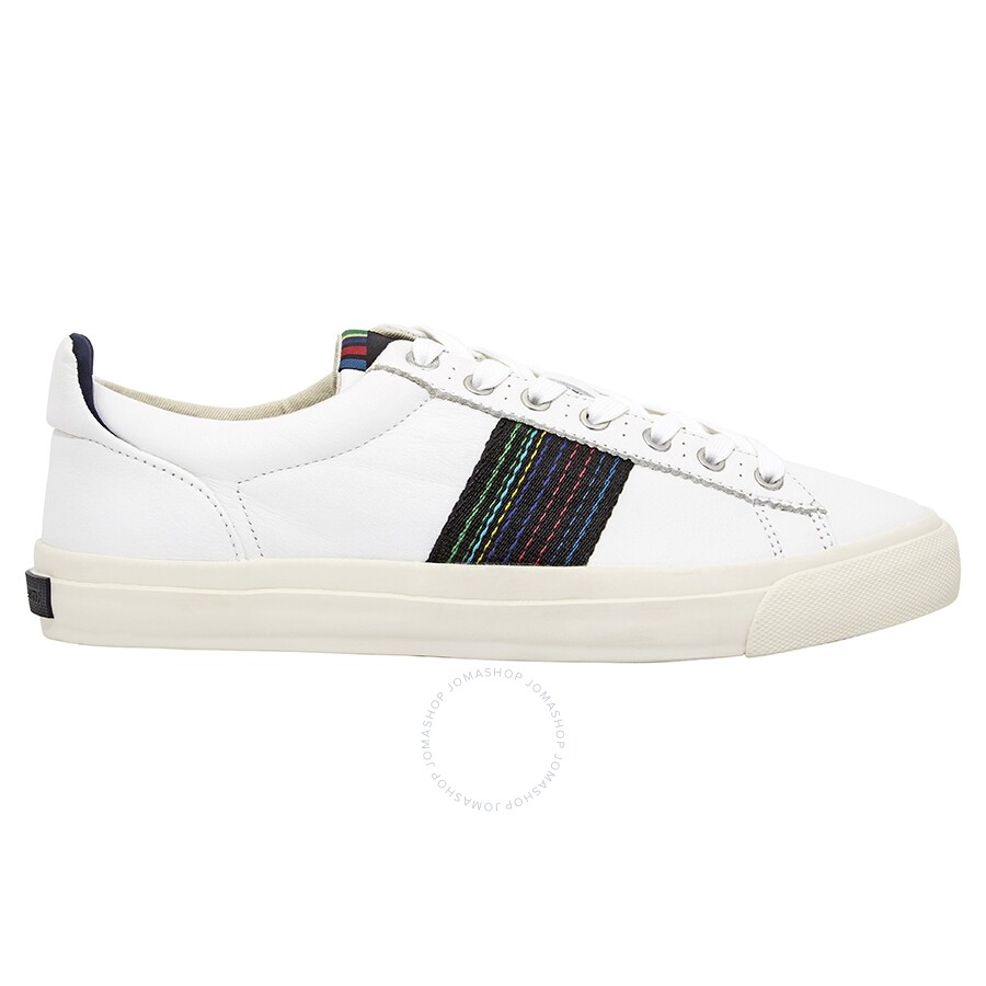 shop exclusive deals buy popular Paul Smith Leather Seppo Trainers in White - Shoes - Jomashop