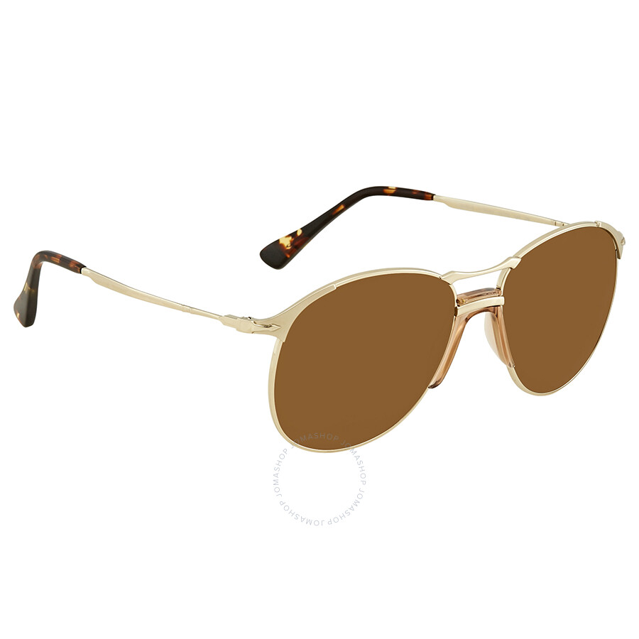 cac2e2f3ffb1 Persol 649 Series Brown Aviator Sunglasses PO2649S 107633 55 Item No.  PO2649S 107633 55