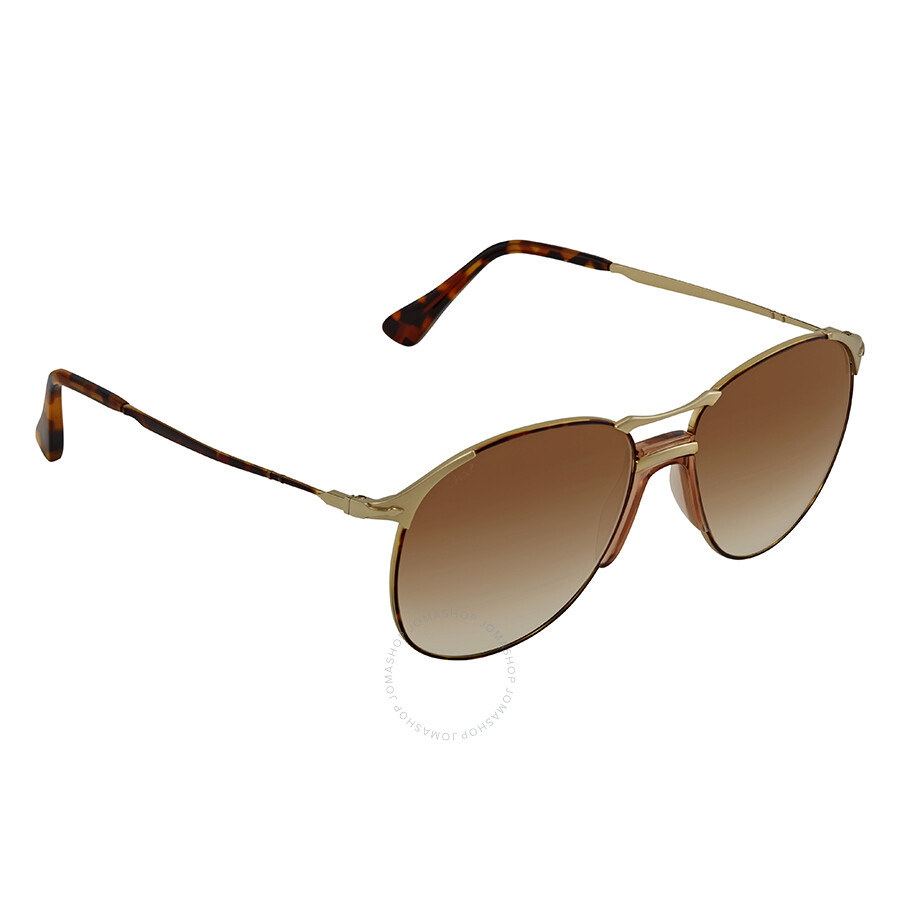 2ce00cda3030 Persol 649 Series Brown Gradient Aviator Sunglasses PO2649S 107551 55 Item  No. PO2649S 107551 55