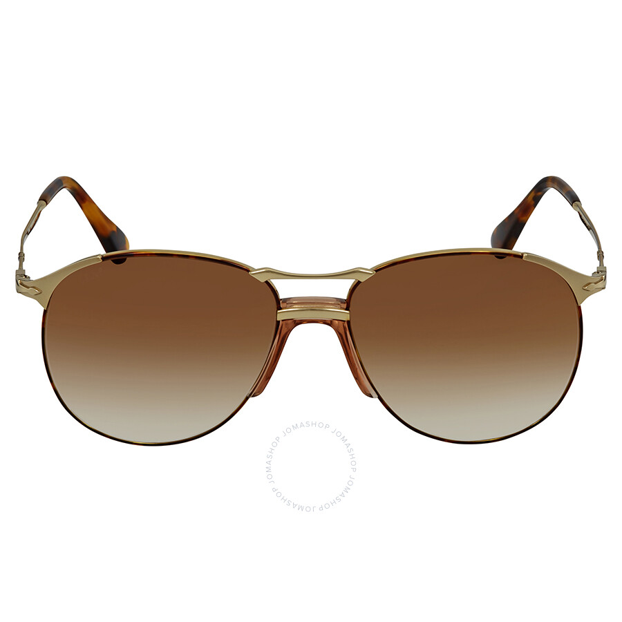 df257053ceb3 ... Persol 649 Series Brown Gradient Aviator Sunglasses PO2649S 107551 55  ...