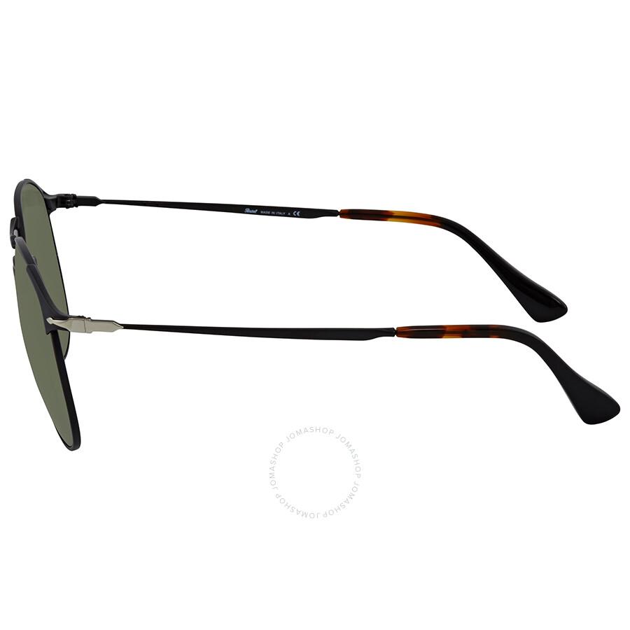 7b896de0f ... Persol 649 Series Green Aviator Sunglasses PO2649S 107831 55
