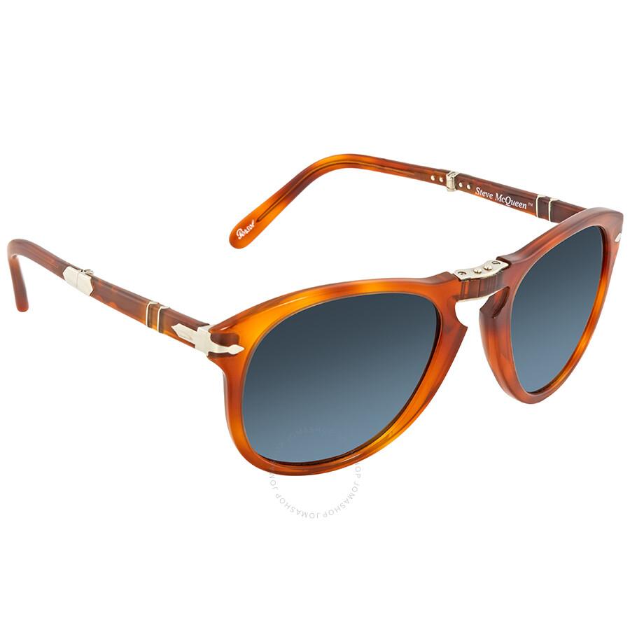 59bc18430c Persol 714- Steve McQueen Polarized Blue Gradient Sunglasses PO0714SM 96 S3  54 ...