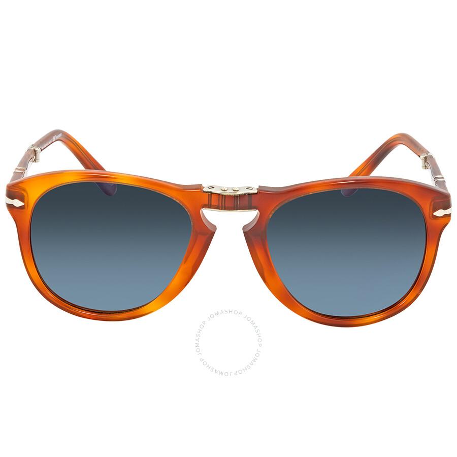 dc9085bb2a ... Persol 714- Steve McQueen Polarized Blue Gradient Sunglasses PO0714SM 96  S3 54 ...