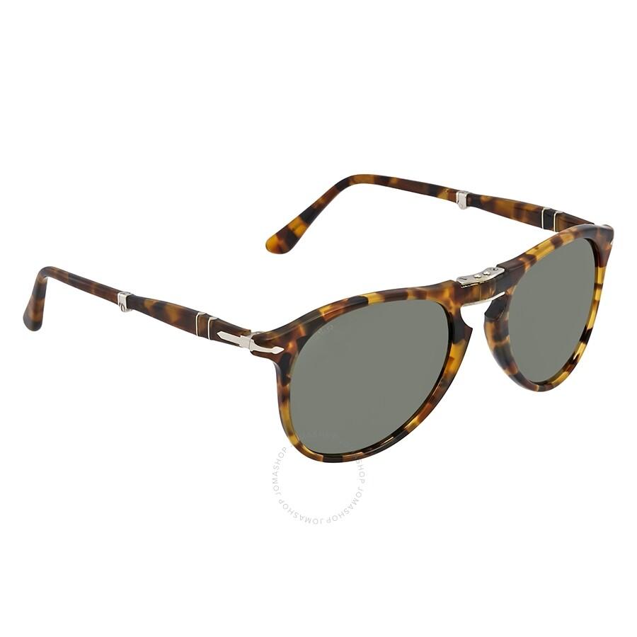 66ec541629cca Persol 714 Green Rectangular Unisex Sunglasses PO9714S 105231 52 ...