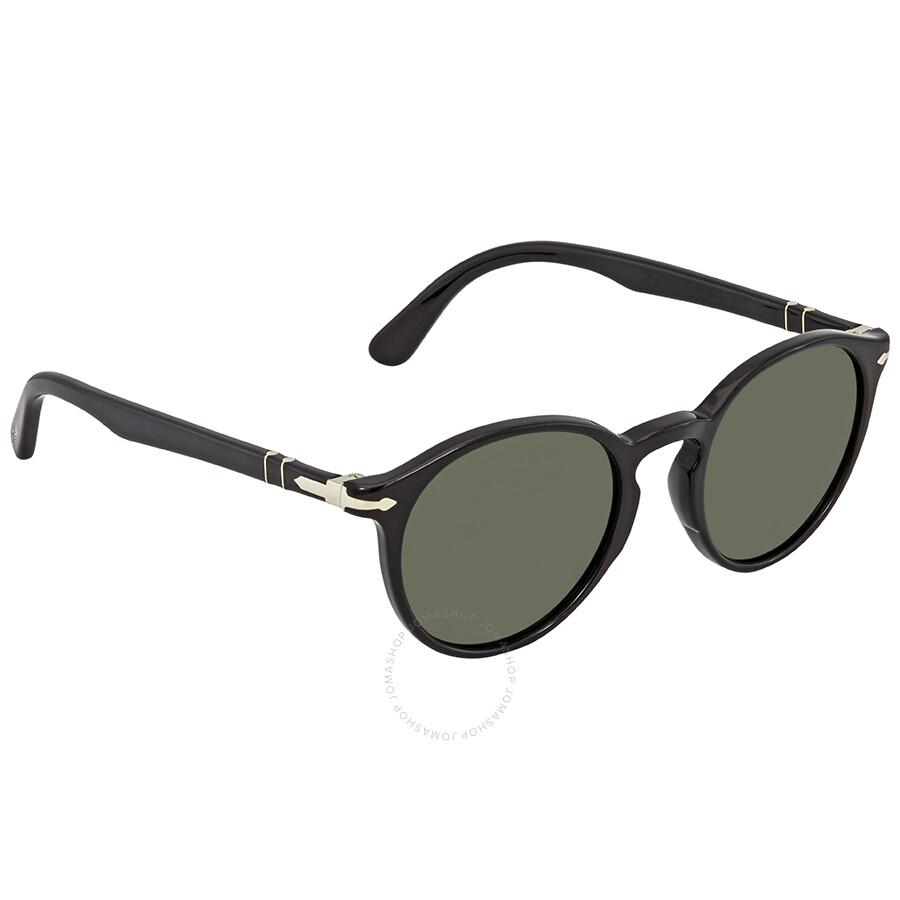 106fc66d33 Persol Black Round Sunglasses - Persol - Sunglasses - Jomashop