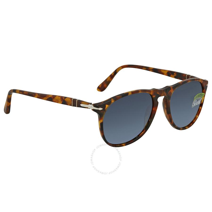 a32c6b66403 Persol Blue Gradient Polarized Round Sunglasses PO9649S 1052S3 52 ...