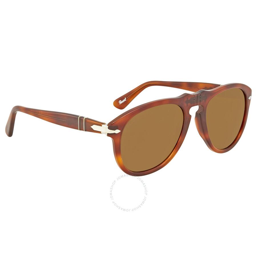 08137848d3295 Persol Brown Aviator Sunglasses PO0649 96 33 52 - Persol ...