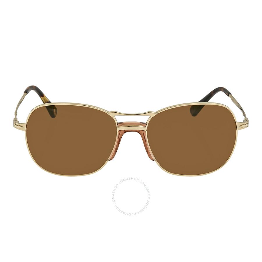 c933d9ebc8 Persol Brown Round Men s Sunglasses PO 2449S 107633 56 - Persol ...