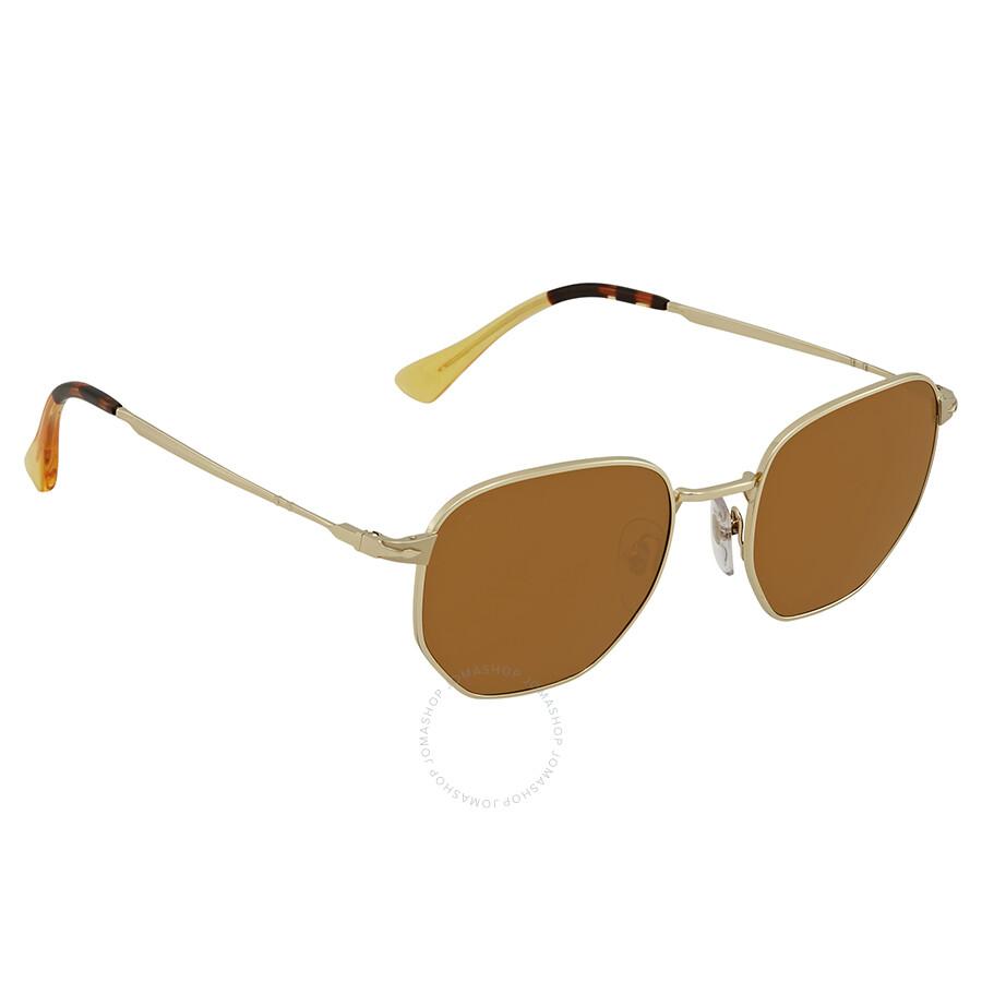 a55ae885ee Persol Brown Square Sunglasses PO2446S 107633 52 - Persol ...