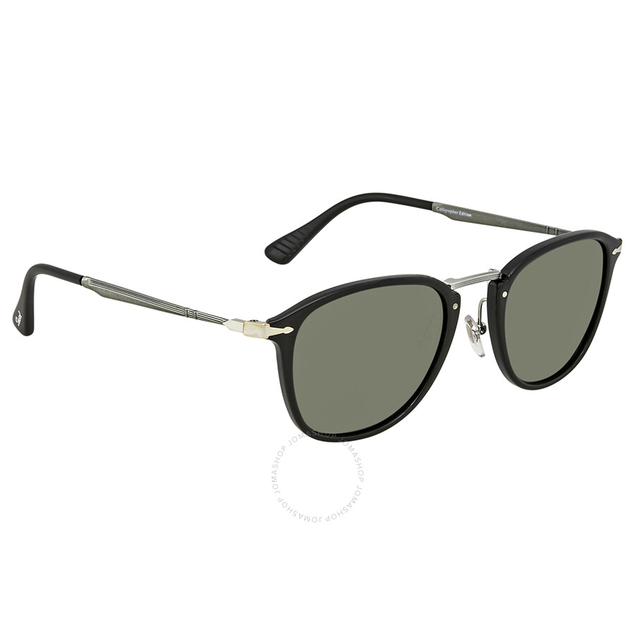 dbdb5c8482 Persol Calligrapher Edition Black Square Sunglasses Item No. PO3165S 95 31  52
