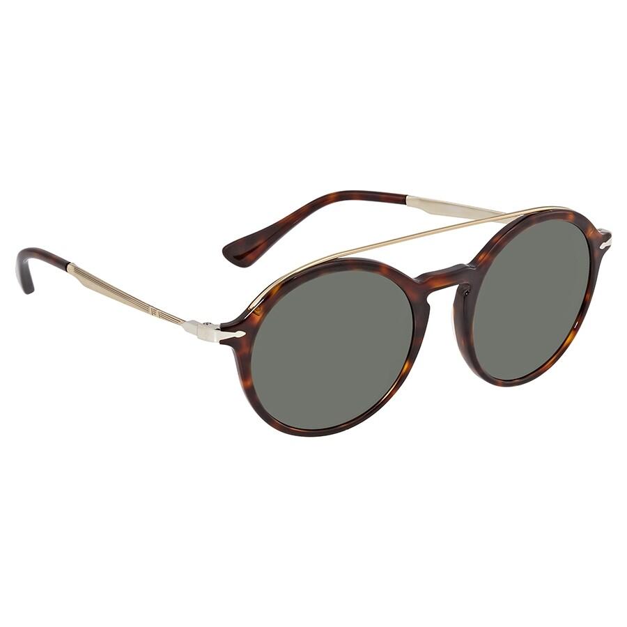 93fc7b64b76c Persol Persol Calligrapher Edition Green Round Men's Sunglasses 0PO3172S  2431 51 Item No. 0PO3172S 2431 51