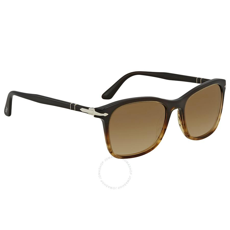 9a7893f145 Persol Clear Gradient Brown Square Sunglasses PO3192S 102651 54 ...