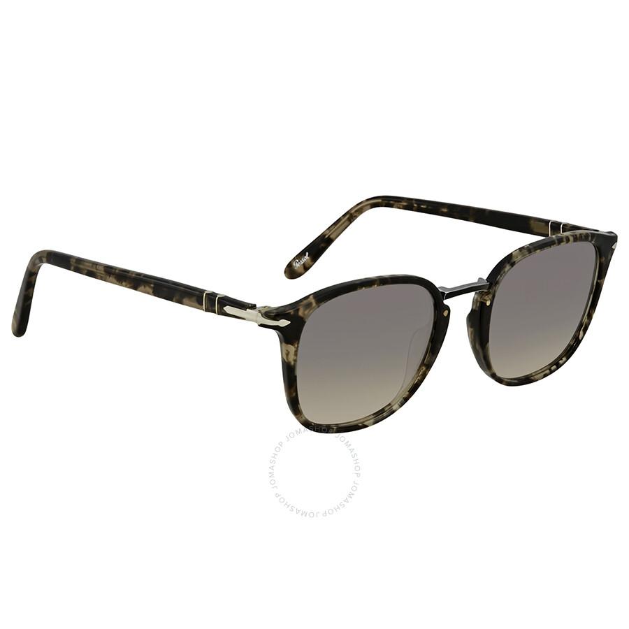 f83aed11f7 Persol Clear Gradient Grey Square 51 mm Sunglasses PO3186S 106332 51 ...
