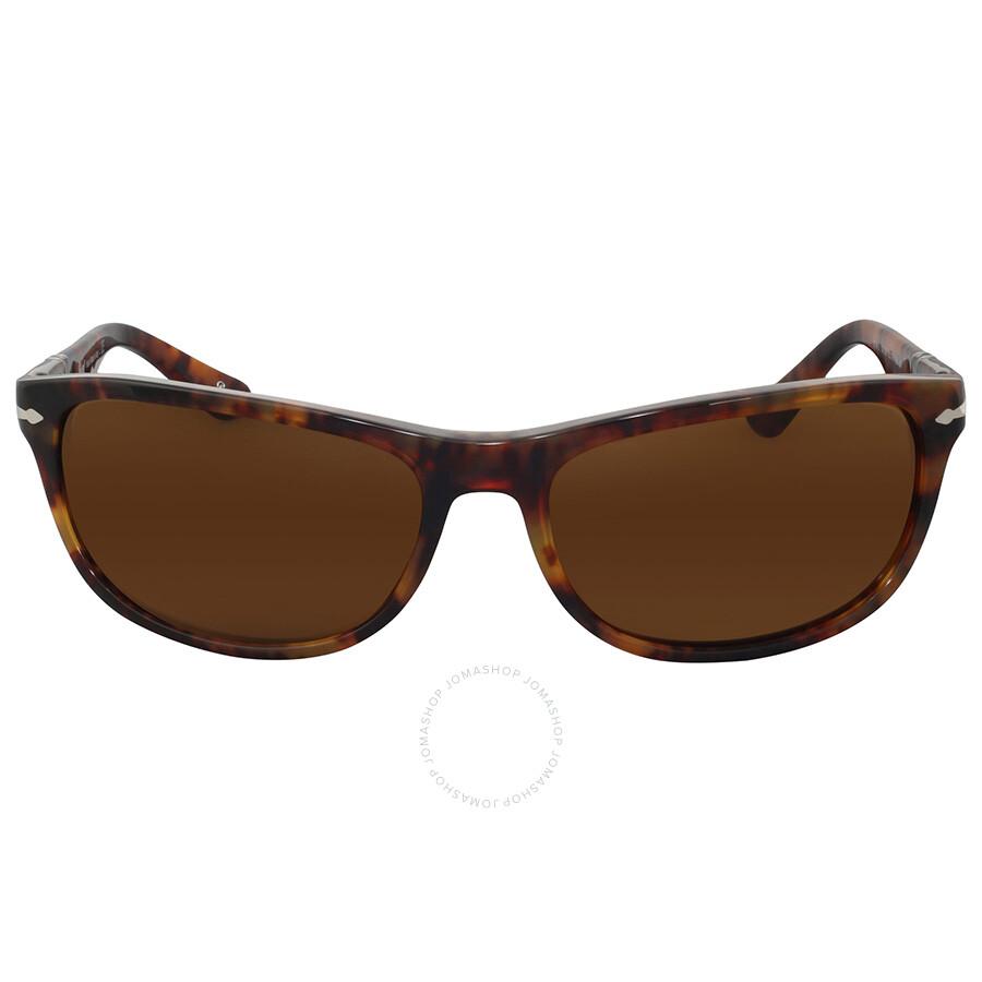5cfe1af459 Persol Coffee Havana RectangularSunglasses Item No. PO3156S 108 33 63