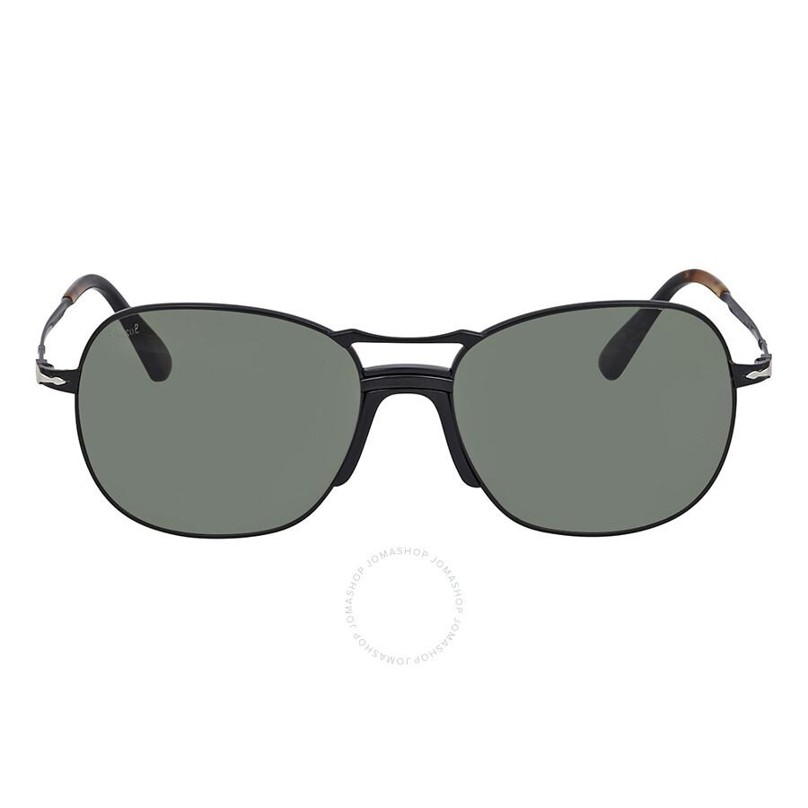 5e3d704260903 ... Persol Dark Green Aviator Unisex Sunglasses PO2449S 107831 56 ...