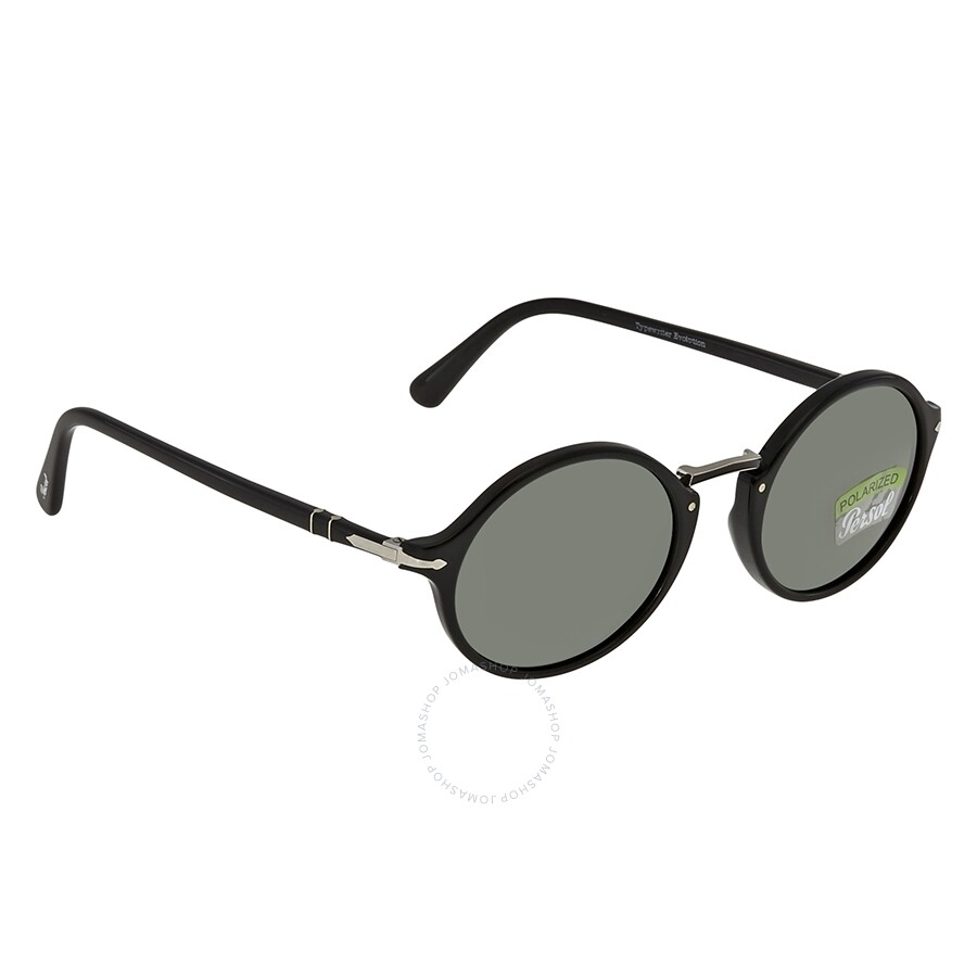 ddb34a3fca5d Persol Dark Green Round Men's Sunglasses 0PO3208S 95/58 50 Item No.  0PO3208S 95/58 50
