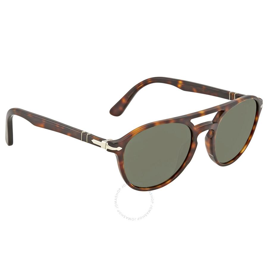 ec0fd8f6df Persol Green Aviator Sunglasses PO3170S 901531 52 - Persol ...