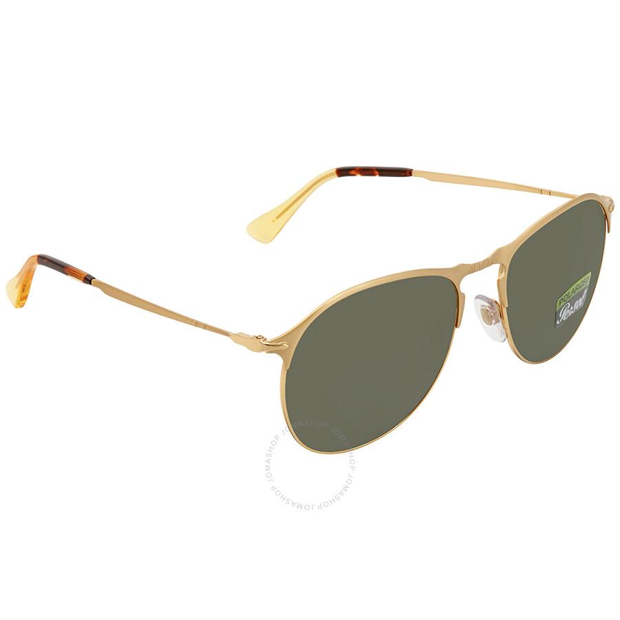 119d1067cf Persol Green Aviator Polarized Sunglasses PO7649S 106958 56 - Persol ...