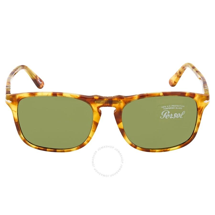 335d819465795 Persol Green Rectangular Unisex Sunglasses PO3059S 10614E Item No. PO3059S  10614E 54