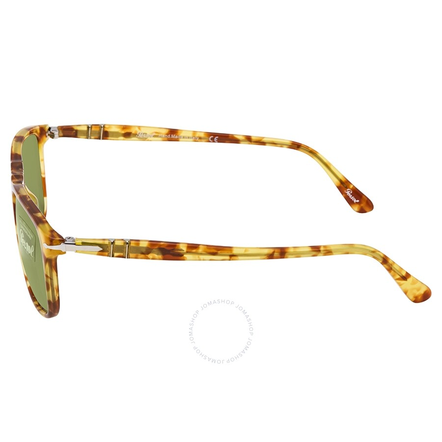 9128aab8a67c2 Persol Green Rectangular Unisex Sunglasses PO3059S 10614E 54 ...