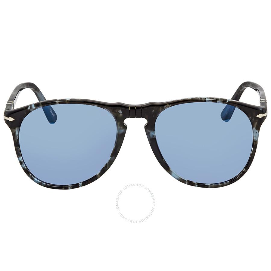 1796c6e718 ... Persol Grey Mirror Blue Aviator Sunglasses PO9649S 1062O4 52 ...