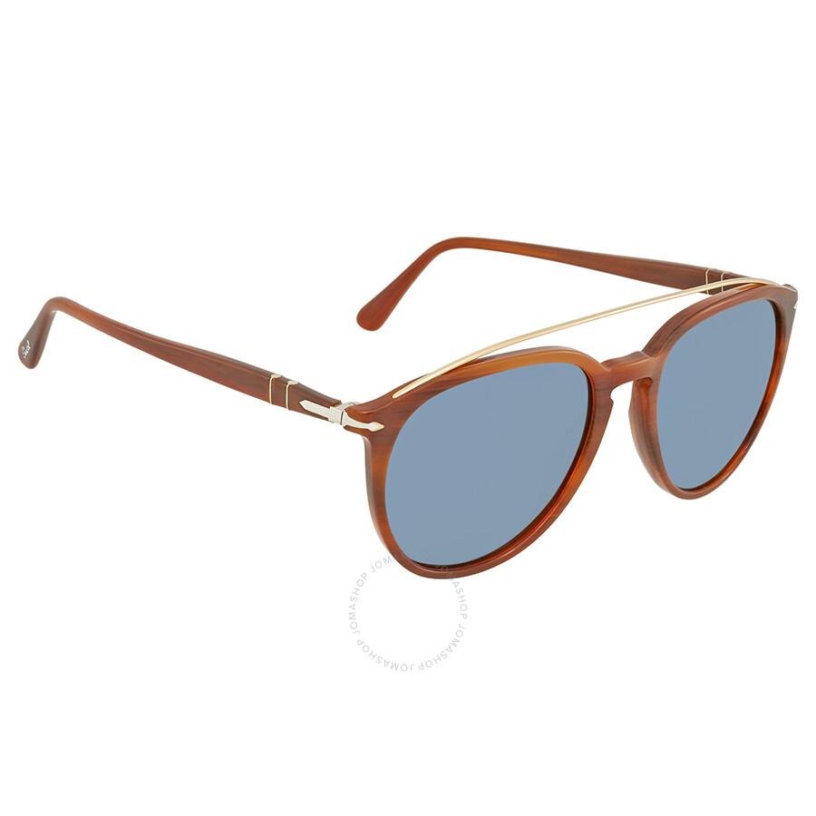 58e392cda3ac9 Persol Light Blue Aviator Sunglasses PO3159S 904656 55 - Persol ...