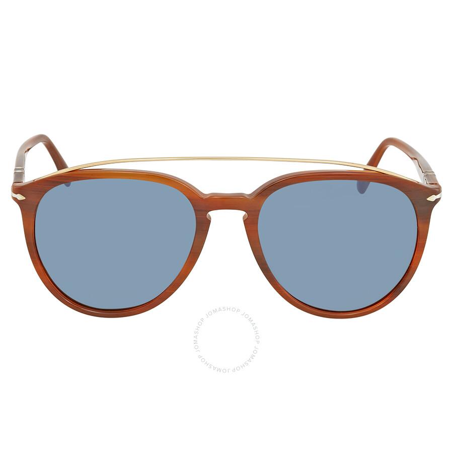 45abd6bbb0 Persol Light Blue Aviator Sunglasses PO3159S 904656 55 - Persol ...