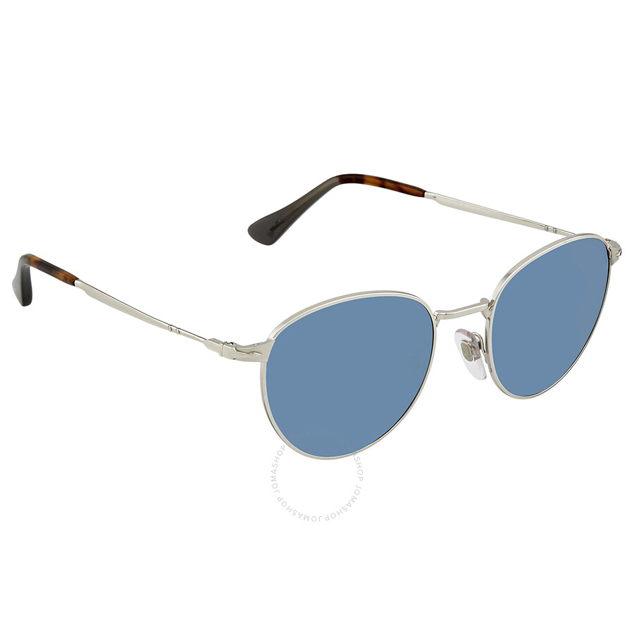 ff812014c1 Persol Light Blue Round Men s Sunglasses PO2445S 51856 52 - Persol ...