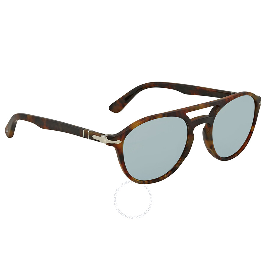 8103dfbc975cf Persol Light Green Mirror Silver Aviator Sunglasses PO3170S 901630 52 ...