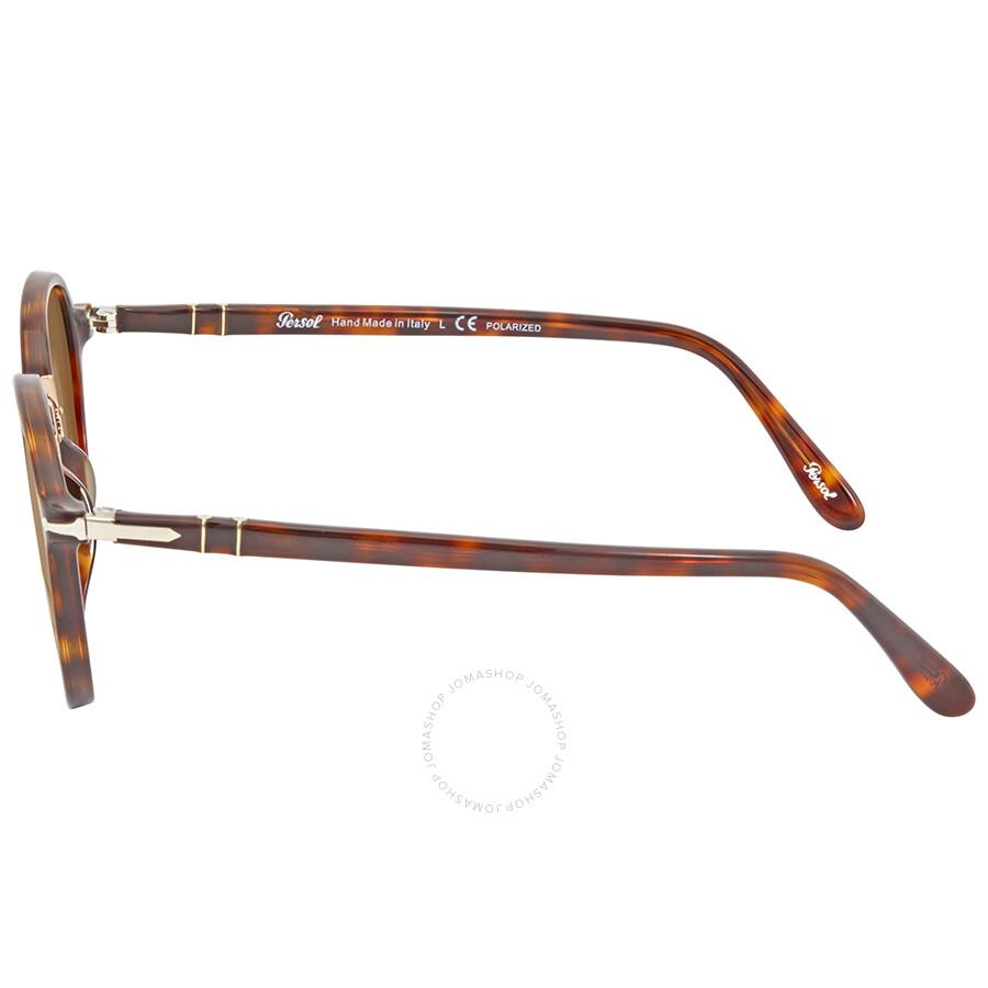 dd424f7a85 Persol Polarized Brown Round Sunglasses PO3184S 24 57 51 - Persol ...