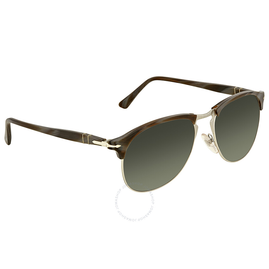 68c187c9019fa Persol Polarized Green Gradient Aviator Men s Sunglasses PO8649S 1045M3 56  ...