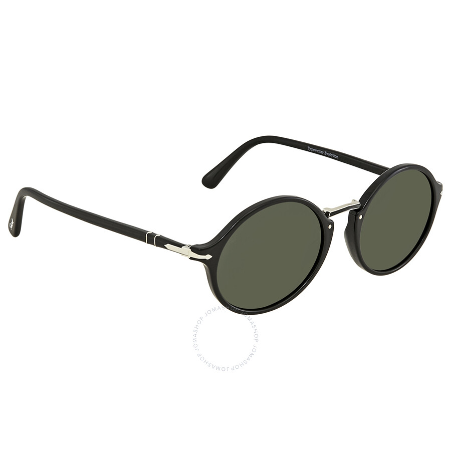 cc47844855 Persol Typewriter Edition Green Round Sunglasses PO3208S 95 31 53 ...