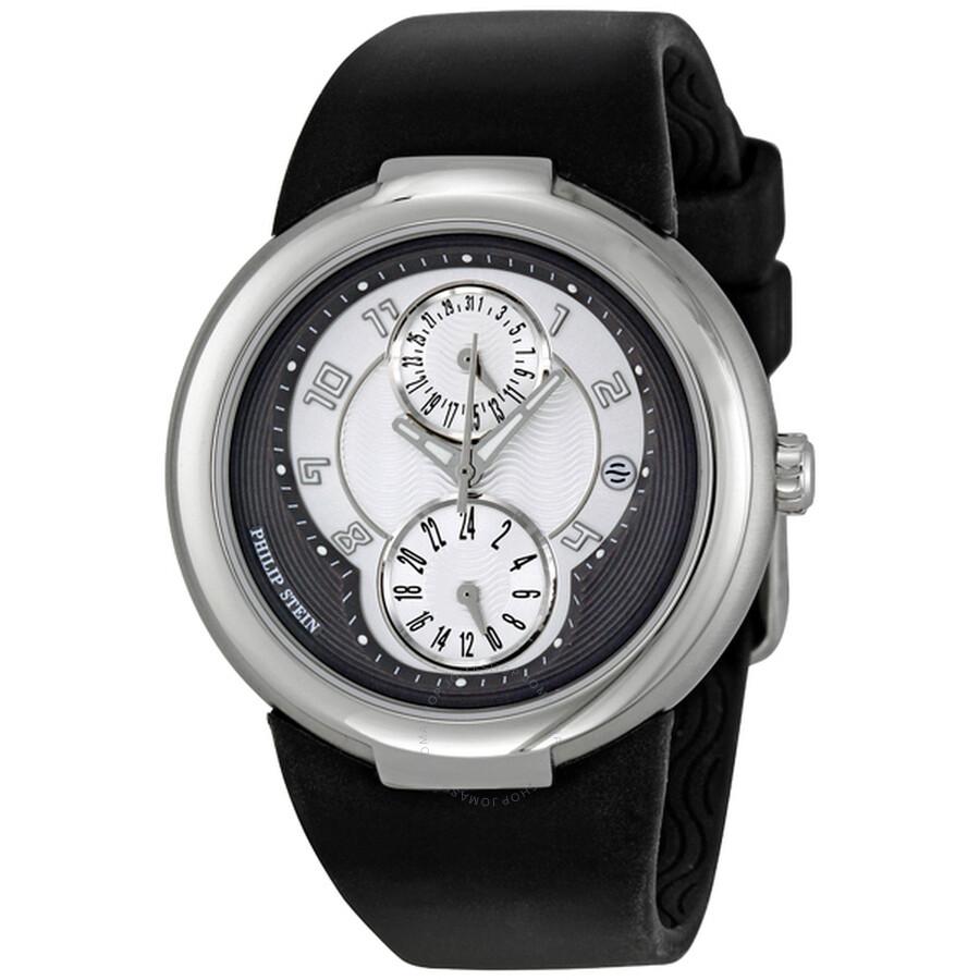 Philip stein active black rubber unisex watch 31 agrw rbb active philip stein watches for Philip stein watches