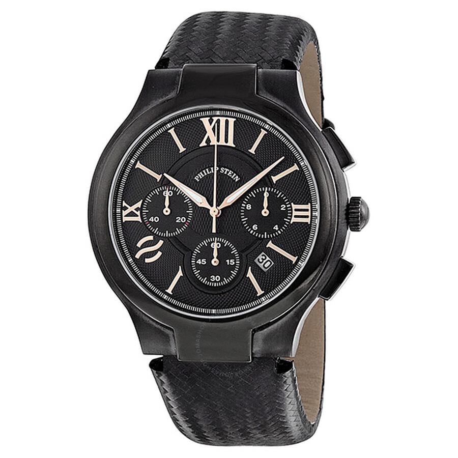 Chronograph Black Watch Crbkrg Bb Pvd Stein 45b Philip Men's cKFTJl1