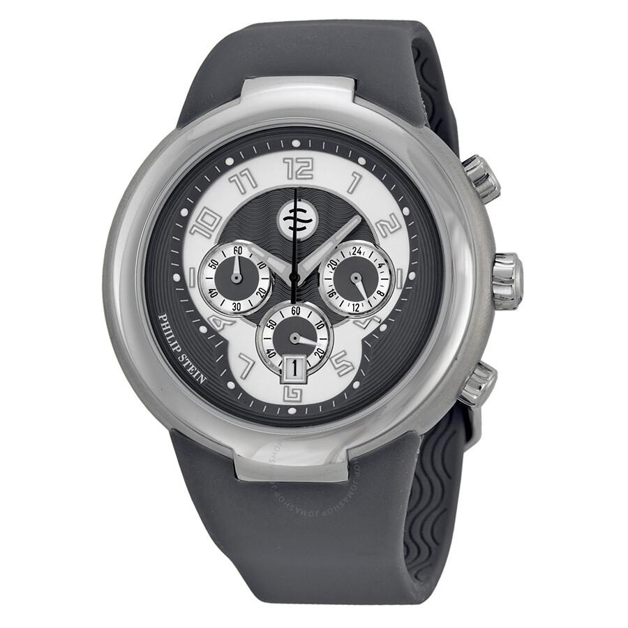 Philip stein large chronograph steel watch 32 agr rbgr active philip stein watches jomashop for Philip stein watches