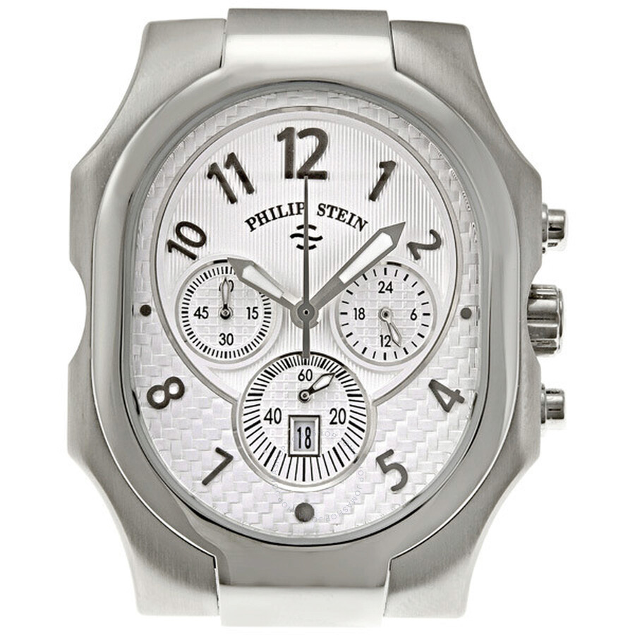 philip stein signature silver dial large chronograph men s watch philip stein signature silver dial large chronograph men s watch 23 nw