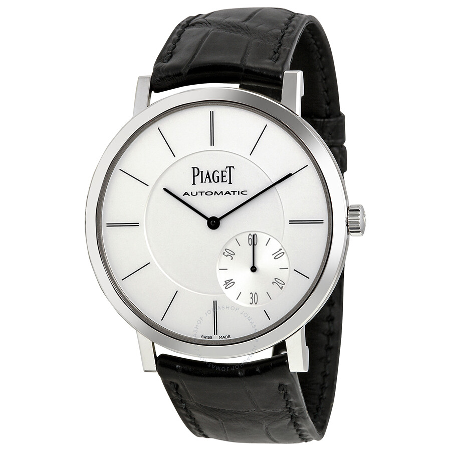 Piaget altiplano automatic silver dial black leather men 39 s watch g0a35130 altiplano piaget for Altiplano watches