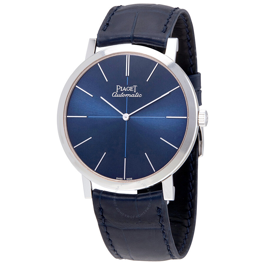 Piaget altiplano blue dial blue leather men 39 s watch g0a42105 altiplano piaget watches for Altiplano watches