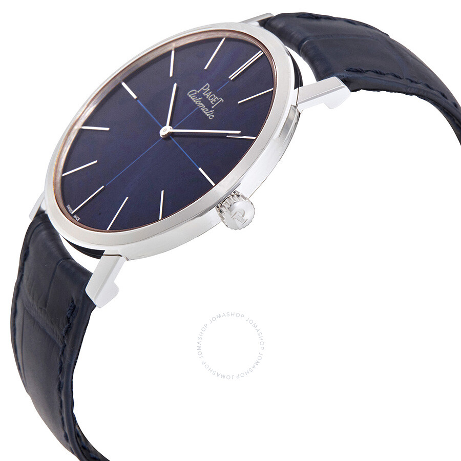 piaget altiplano blue dial blue leather men s watch g0a42105