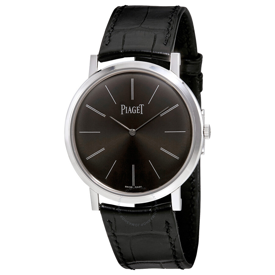a875ae36e29 Piaget Altiplano Mechanical Black Dial 18Kt White Gold Men s Watch GOA29113  ...