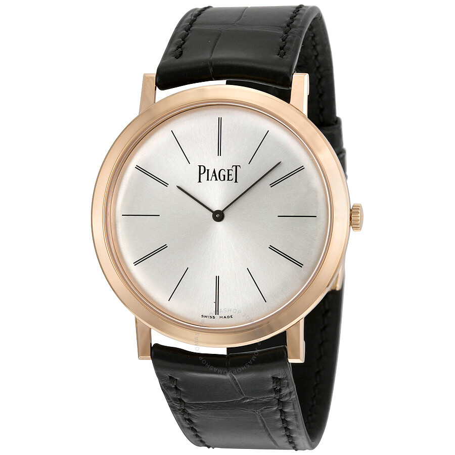 piaget altiplano mechanical silver dial leather men 39 s watch g0a31114 altiplano piaget