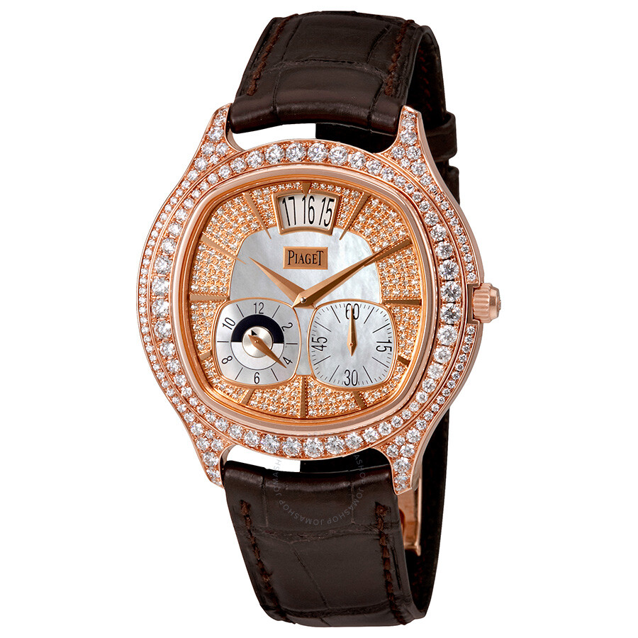 4b008ab6135 Piaget Emperador Mother of Pearl 18kt Rose Gold Diamond Men s Watch  GOA32020 ...