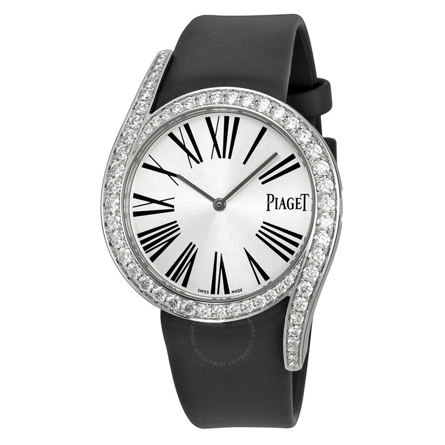 piaget limelight gala silver black satin
