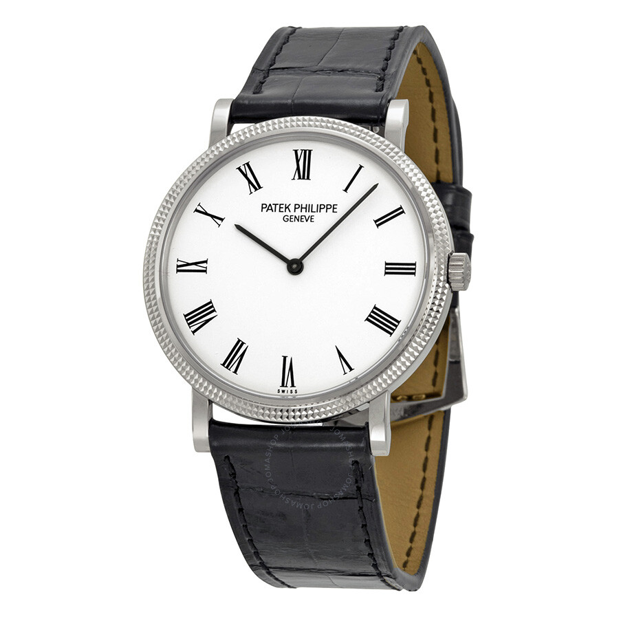 20d93b1629c Patek Philippe Calatrava White Dial 18k White Gold Men s Watch 5120G Item  No. 5120G-001