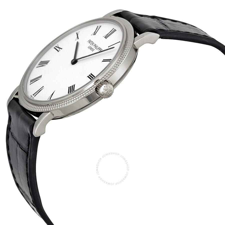 dc2d91b4707 ... Patek Philippe Calatrava White Dial 18k White Gold Men s Watch 5120G ...