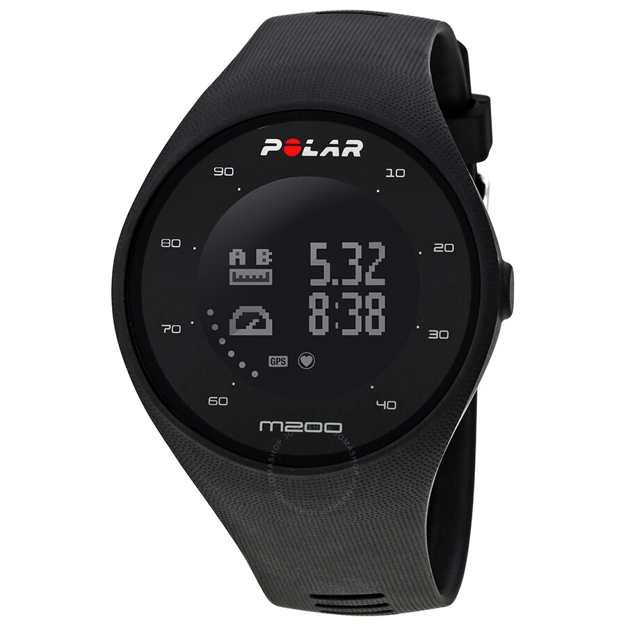 polar m200 gps running watch black polar watches jomashop